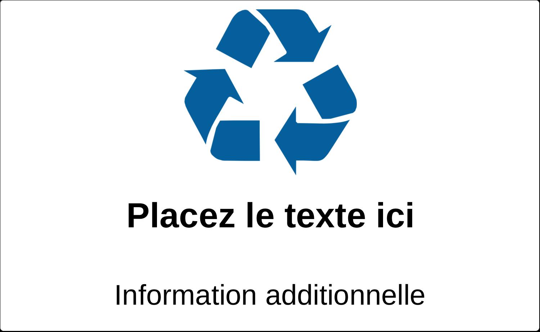 """8⅛"""" x 5"""" Étiquettes d'expéditions - Recyclage industriel bleu"""