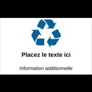 Recyclage industriel bleu