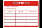 Dossier d'inspection - rouge Étiquettes D'Identification - gabarit prédéfini. <br/>Utilisez notre logiciel Avery Design & Print Online pour personnaliser facilement la conception.