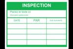 Dossier d'inspection - vert Étiquettes D'Identification - gabarit prédéfini. <br/>Utilisez notre logiciel Avery Design & Print Online pour personnaliser facilement la conception.