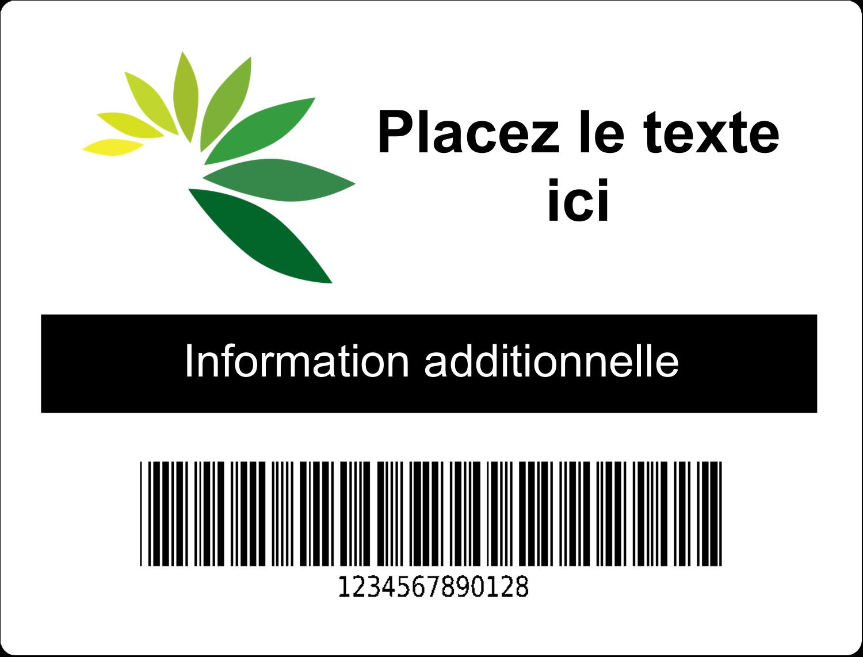 """2⅝"""" x 2"""" Étiquettes D'Identification - Code-barres industriel"""