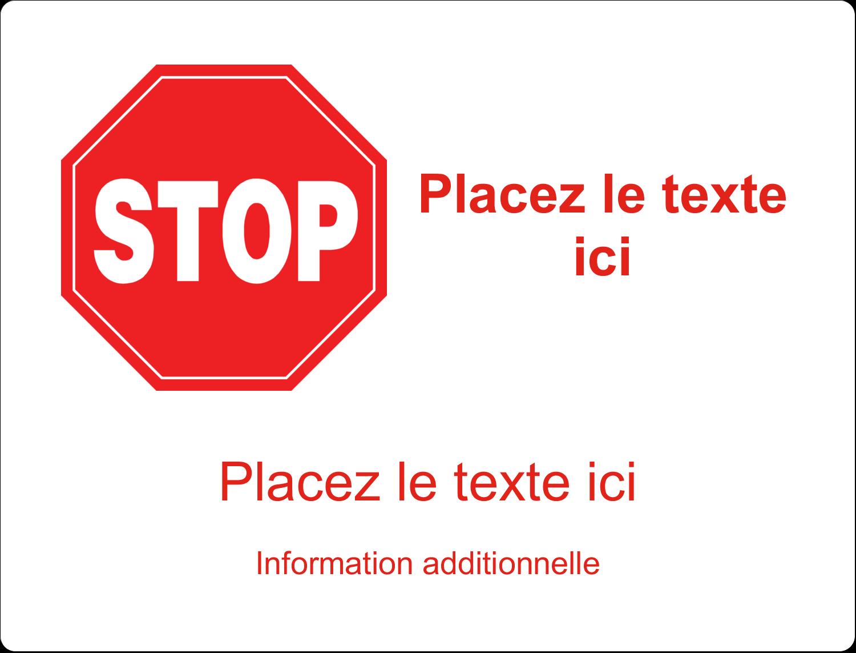 """8⅛"""" x 5"""" Étiquettes d'expéditions - Arrêt - Ne pas faire fonctionner"""