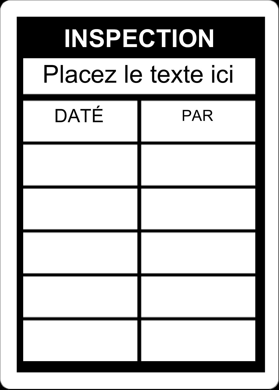 """1¾"""" x 1¼"""" Étiquettes D'Identification - Dossier d'inspection - noir"""