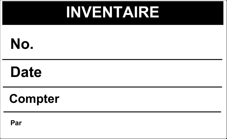 """4¾"""" x 7¾"""" Étiquette Industrielles - Inventaire"""