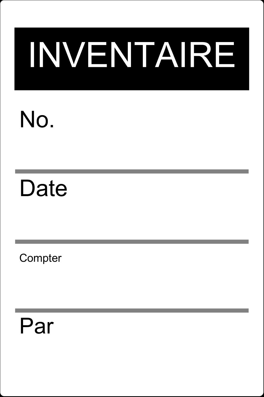 """3½"""" x 1-1/32"""" Étiquette Industrielles - Inventaire"""
