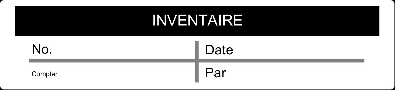 """8½"""" x 5"""" Cartes Et Articles D'Artisanat Imprimables - Inventaire"""