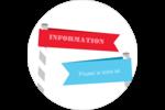 Drapeaux des Fêtes Étiquettes rondes - gabarit prédéfini. <br/>Utilisez notre logiciel Avery Design & Print Online pour personnaliser facilement la conception.