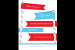 Drapeaux des Fêtes Carte Postale - gabarit prédéfini. <br/>Utilisez notre logiciel Avery Design & Print Online pour personnaliser facilement la conception.