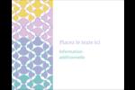 Beauté géométrique Étiquettes rondes gaufrées - gabarit prédéfini. <br/>Utilisez notre logiciel Avery Design & Print Online pour personnaliser facilement la conception.