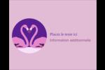 Flamant en forme de cœur Étiquettes rondes gaufrées - gabarit prédéfini. <br/>Utilisez notre logiciel Avery Design & Print Online pour personnaliser facilement la conception.