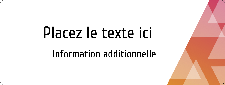 """½"""" x 1¾"""" Étiquettes D'Adresse - Affaires internes"""