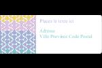 Beauté géométrique Étiquettes D'Adresse - gabarit prédéfini. <br/>Utilisez notre logiciel Avery Design & Print Online pour personnaliser facilement la conception.