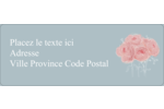 Petit bouquet Étiquettes D'Adresse - gabarit prédéfini. <br/>Utilisez notre logiciel Avery Design & Print Online pour personnaliser facilement la conception.