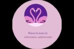 Flamant en forme de cœur Étiquettes de classement - gabarit prédéfini. <br/>Utilisez notre logiciel Avery Design & Print Online pour personnaliser facilement la conception.