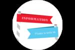 Drapeaux des Fêtes Étiquettes arrondies - gabarit prédéfini. <br/>Utilisez notre logiciel Avery Design & Print Online pour personnaliser facilement la conception.