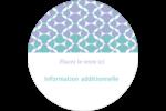 Beauté géométrique Étiquettes arrondies - gabarit prédéfini. <br/>Utilisez notre logiciel Avery Design & Print Online pour personnaliser facilement la conception.