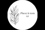 Beauté naturelle Étiquettes rondes - gabarit prédéfini. <br/>Utilisez notre logiciel Avery Design & Print Online pour personnaliser facilement la conception.