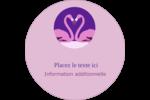 Flamant en forme de cœur Étiquettes rondes - gabarit prédéfini. <br/>Utilisez notre logiciel Avery Design & Print Online pour personnaliser facilement la conception.