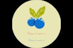 Cuillère à dessert Étiquettes rondes - gabarit prédéfini. <br/>Utilisez notre logiciel Avery Design & Print Online pour personnaliser facilement la conception.