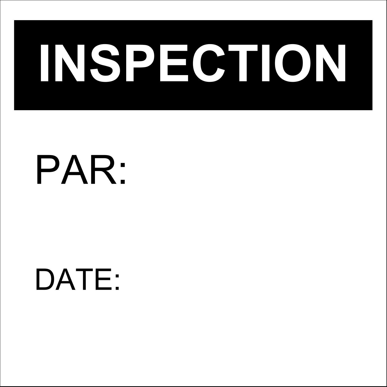 Dossier d'inspection - noir Étiquette Industrielles - gabarit prédéfini. <br/>Utilisez notre logiciel Avery Design & Print Online pour personnaliser facilement la conception.