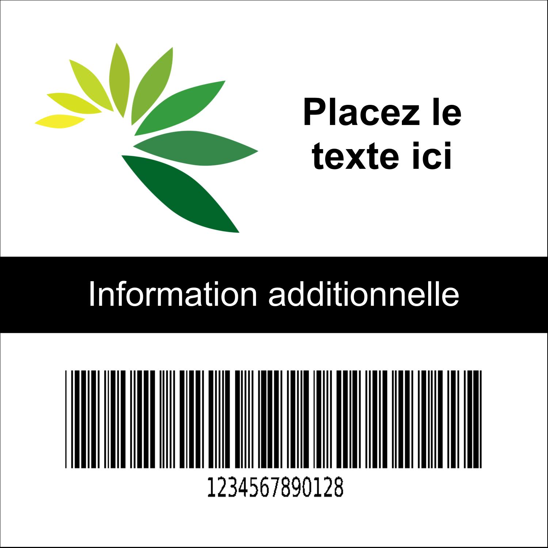 """2"""" x 2"""" Étiquette Industrielles - Code-barres industriel"""