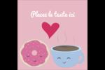 Amours, délices et café Étiquettes enveloppantes - gabarit prédéfini. <br/>Utilisez notre logiciel Avery Design & Print Online pour personnaliser facilement la conception.