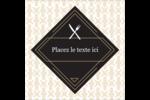 Fourchette et couteau Étiquettes enveloppantes - gabarit prédéfini. <br/>Utilisez notre logiciel Avery Design & Print Online pour personnaliser facilement la conception.