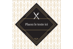 Fourchette et couteau Étiquettes rondes - gabarit prédéfini. <br/>Utilisez notre logiciel Avery Design & Print Online pour personnaliser facilement la conception.