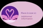 Flamant en forme de cœur Étiquettes carrées - gabarit prédéfini. <br/>Utilisez notre logiciel Avery Design & Print Online pour personnaliser facilement la conception.
