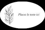 Beauté naturelle Étiquettes carrées - gabarit prédéfini. <br/>Utilisez notre logiciel Avery Design & Print Online pour personnaliser facilement la conception.