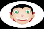 Dracula  Étiquettes ovales - gabarit prédéfini. <br/>Utilisez notre logiciel Avery Design & Print Online pour personnaliser facilement la conception.