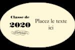 Diplôme d'études supérieures Étiquettes carrées - gabarit prédéfini. <br/>Utilisez notre logiciel Avery Design & Print Online pour personnaliser facilement la conception.