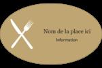 Fourchette et couteau Étiquettes carrées - gabarit prédéfini. <br/>Utilisez notre logiciel Avery Design & Print Online pour personnaliser facilement la conception.