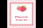 Fraise en rouge et vert Étiquettes carrées - gabarit prédéfini. <br/>Utilisez notre logiciel Avery Design & Print Online pour personnaliser facilement la conception.