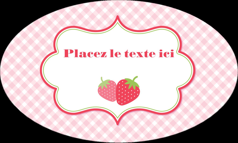 """1½"""" x 1½"""" Étiquettes carrées - Fraise en rouge et vert"""