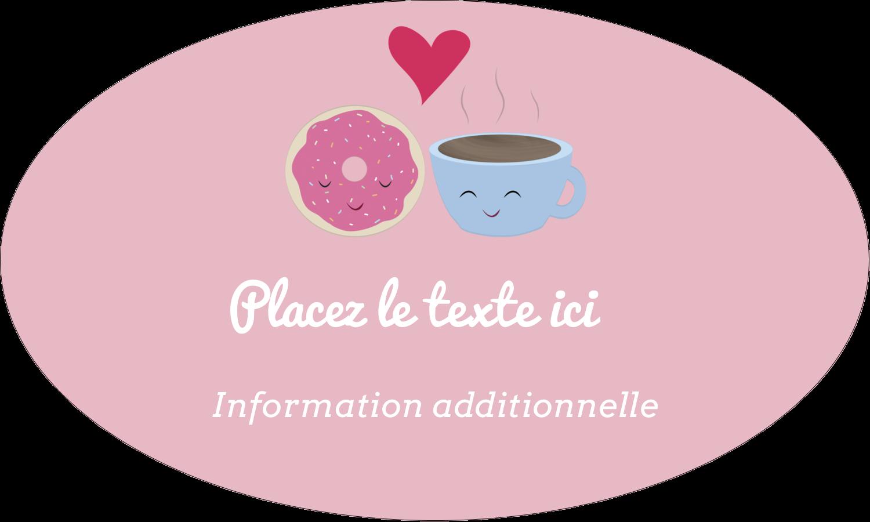 """1½"""" x 1½"""" Étiquettes carrées - Amours, délices et café"""
