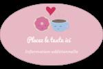 Amours, délices et café Étiquettes carrées - gabarit prédéfini. <br/>Utilisez notre logiciel Avery Design & Print Online pour personnaliser facilement la conception.