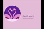 Flamant en forme de cœur Carte Postale - gabarit prédéfini. <br/>Utilisez notre logiciel Avery Design & Print Online pour personnaliser facilement la conception.