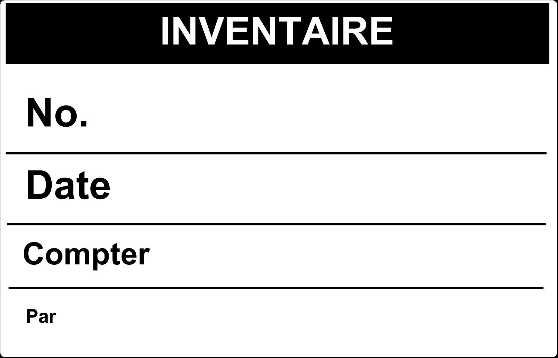 """7½"""" x 5"""" Étiquette Industrielles - Inventaire"""