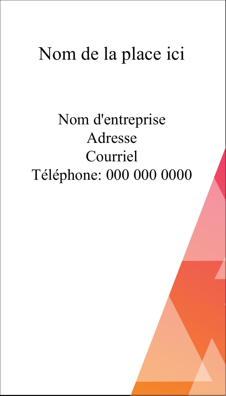 """3½"""" x 2"""" Carte d'affaire - Affaires internes"""