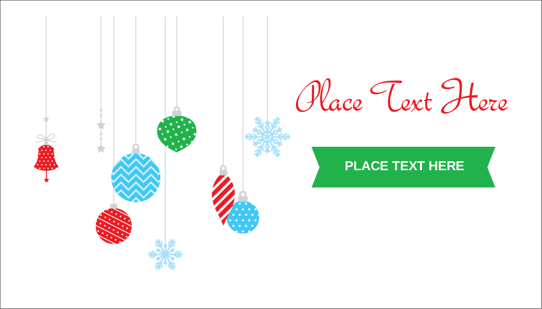 "2"" x 3½"" Business Card - Christmas Ornaments"
