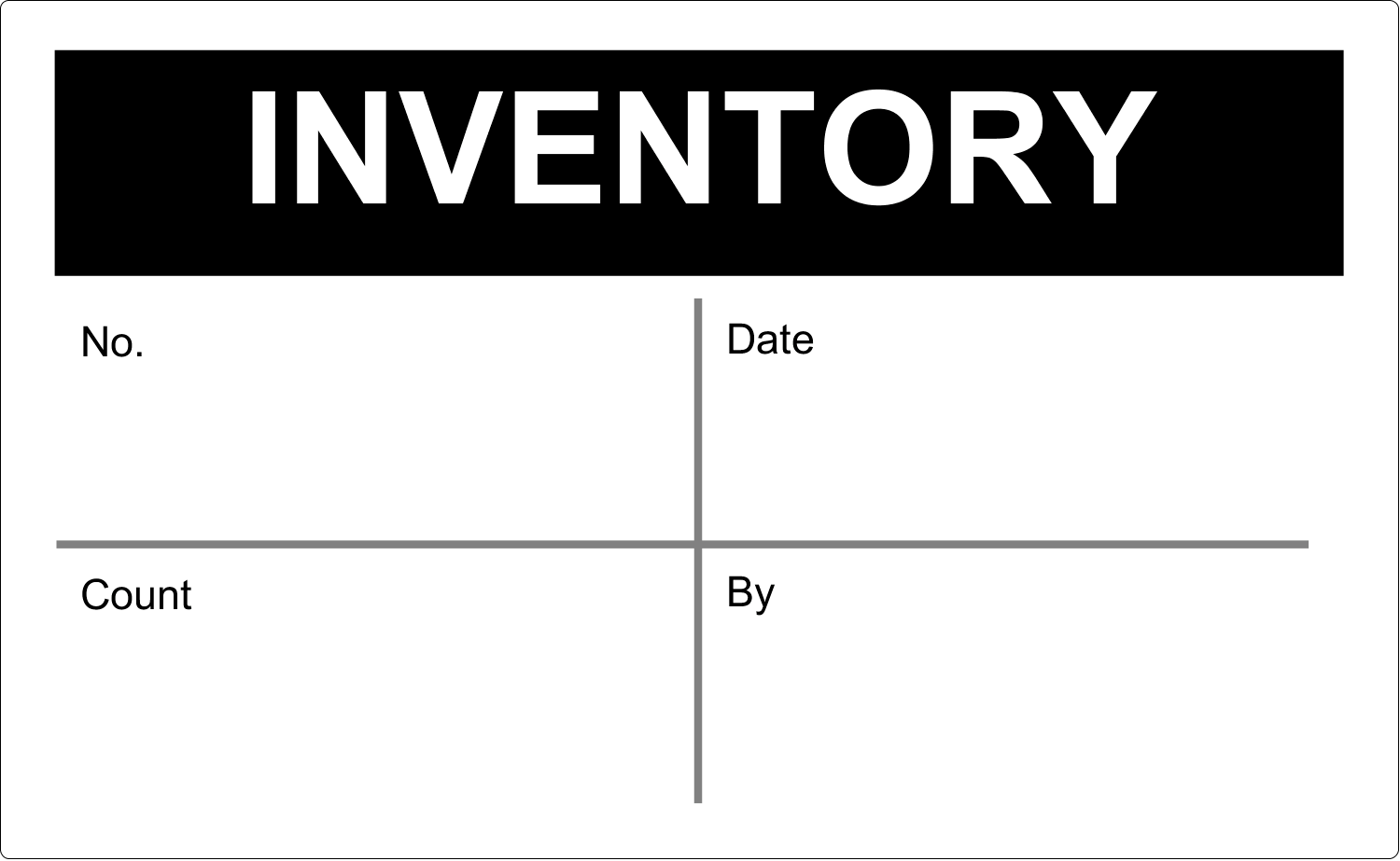 "8⅛"" x 5"" Shipping Label - Inventory"