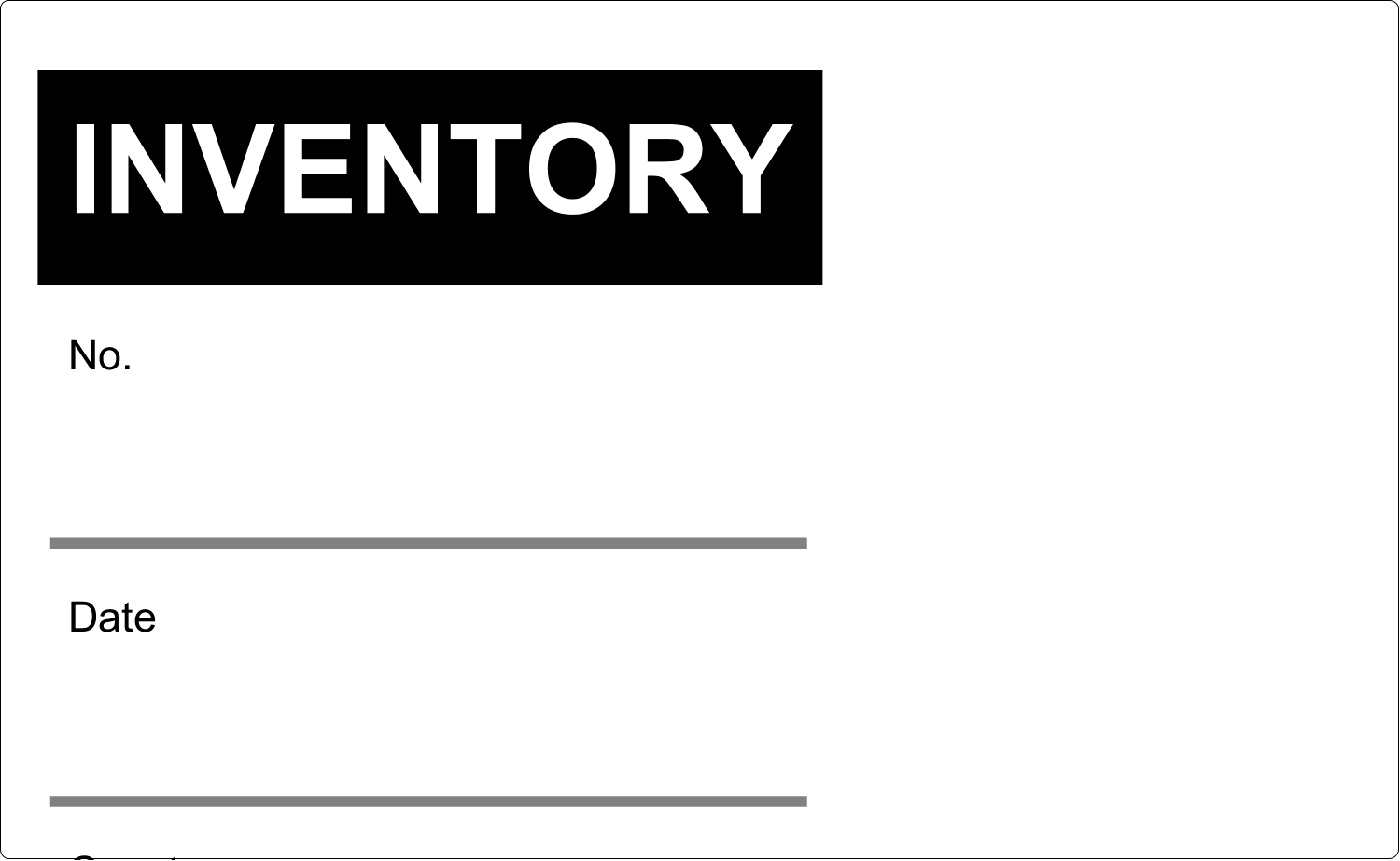"""5"""" x 8⅛"""" Shipping Label - Inventory"""