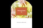 Palmes ensoleillées Étiquettes rectangulaires - gabarit prédéfini. <br/>Utilisez notre logiciel Avery Design & Print Online pour personnaliser facilement la conception.