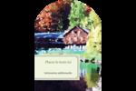 Maison du lac Étiquettes rectangulaires - gabarit prédéfini. <br/>Utilisez notre logiciel Avery Design & Print Online pour personnaliser facilement la conception.