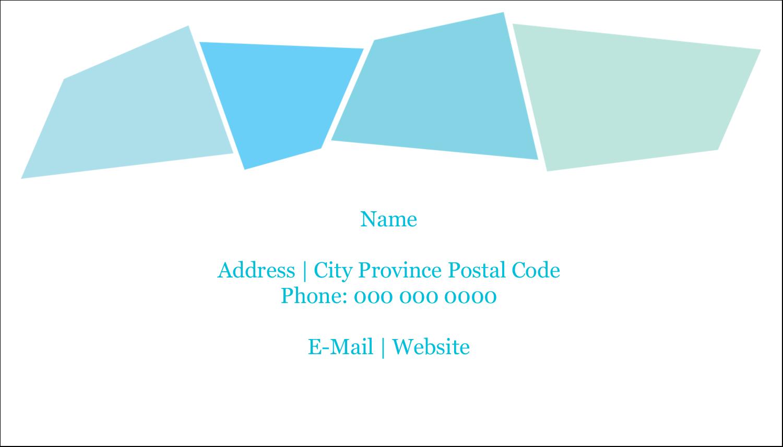 "2"" x 3½"" Business Card - Cool Color Palette"