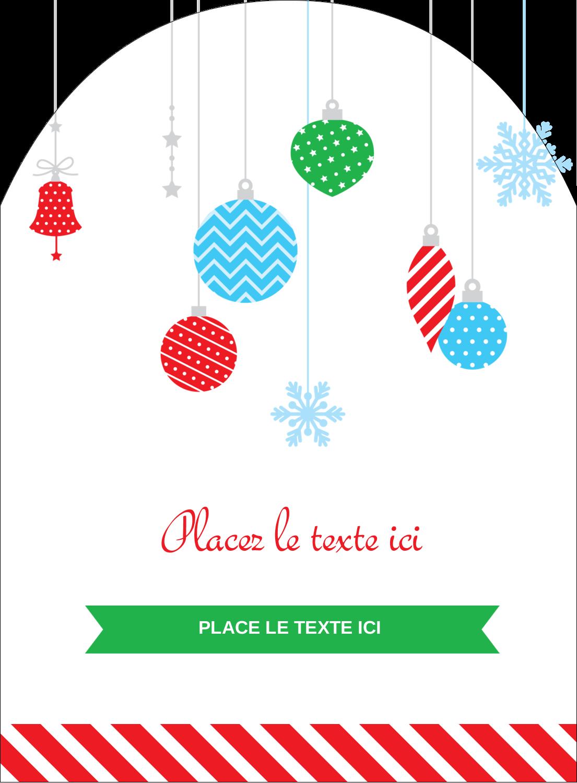 """4¾"""" x 3½"""" Étiquettes rectangulaires - Ornements de Noël"""