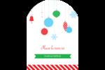 Ornements de Noël Étiquettes rectangulaires - gabarit prédéfini. <br/>Utilisez notre logiciel Avery Design & Print Online pour personnaliser facilement la conception.