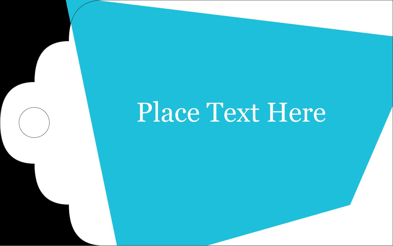 "2"" x 1⅛"" Printable Tags - Cool colour Palette"