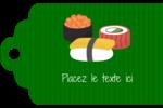 Sushis  Étiquettes imprimables - gabarit prédéfini. <br/>Utilisez notre logiciel Avery Design & Print Online pour personnaliser facilement la conception.